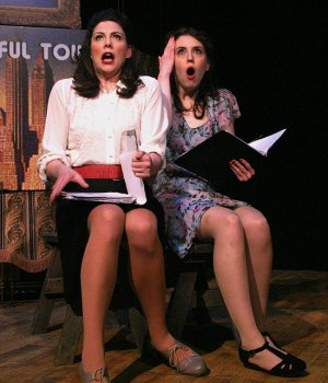"Elizabeth Broadhurst as Ruth and Savannah Frazier as Eileen in a scene from ""Wonderful Town"" (Photo credit: Michael Portantiere)"