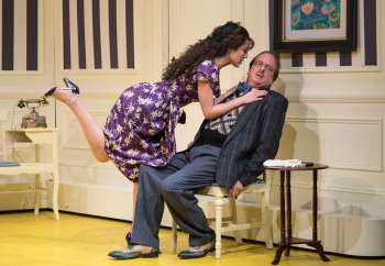 "Kelley Curran and Chris Mixon in a scene from ""The Dingdong"" (Photo credit: Russ Rowland)"