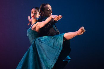 "Ballet Hispanico in a scene from Pedro Ruiz's ""Club Havana"" (Photo credit: Paula Lobo)"
