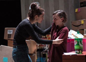 """Jenna D'Angelo and Kim Krane in a scene from """"Keep"""" (Photo credit: Russell Rowland)"""