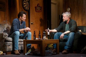 "Timothy Olyphant and C.J. Wilson in a scene from ""Hold On to Me Darling"" (Photo credit: Doug Hamilton)"