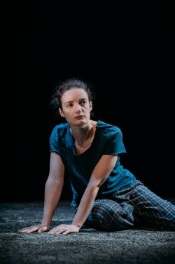 """Aoife Duffin in a scene from in a scene from """"A Girl is a Half-formed Thing"""" (Photo credit: Mihaela Bodlovic)"""