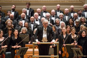 The Cecilia Chorus of New York with conductor Mark Shapiro and orchestra