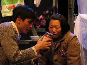 "Wanning Jen and Chun Cho in a scene from ""Midnight Kill"" (Photo credit: Remy)"
