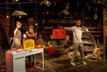 """Elizabeth Gray, Emma Meltzer and Nathaniel J. Ryan in a scene from """"Port Cities NYC"""" (Photo credit: Kelly Stuart)"""