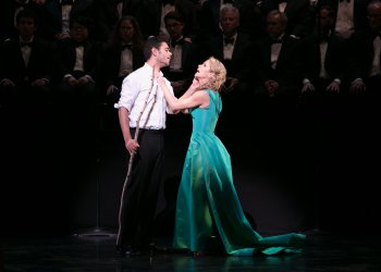 "Elliot Madore and Kelli O'Hara in a scene from ""Dido and Aeneas"" (Photo credit: Erin Baiano)"
