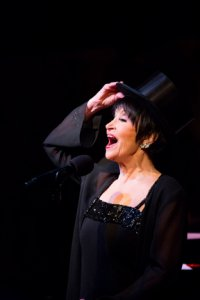 Chita Rivera in a Kander & Ebb moment at the at the Café Carlyle (Photo credit: David Andrako)