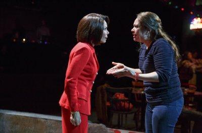 "Daphne Rubin-Vega and Vanessa Aspillaga in a scene from ""Daphne's Dive"" (Photo credit: Joan Marcus)"