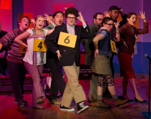 "The Company of ""The 25th Annual Putnam County Spelling Bee"" (Photo credit: Michael Dekker)"