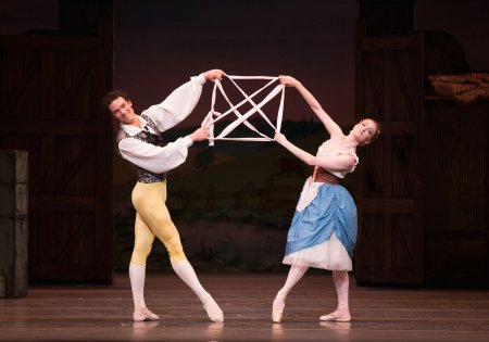 "Cory Stevens and Gillian Murphy in a scene from American Ballet Theatre's production of ""La Fille mal Gardée"" (Photo credit: Rosalie O'Connor)"