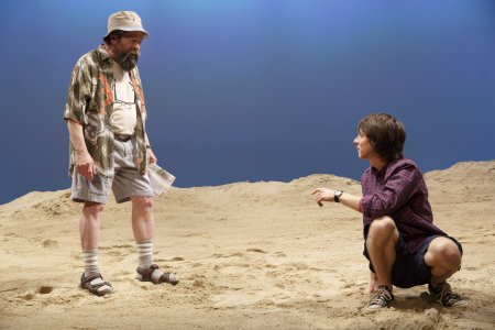 "Jonathan Hadary and Owen Campbell in a scene from ""Indian Summer""(Photo credit: Joan Marcus)"