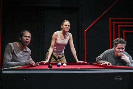 "Kwasi Osei, Christiane Julie and Morten Holst in a scene from ""Then Silence"" (Photo credit: Kait Ebinger)"