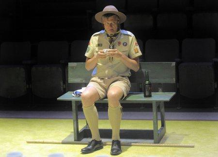 "Stephen Billington a scene from Alan Ayckbourn's ""Confusions"" (Photo credit: Tony Barthlomew)"