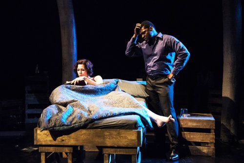 "Claire Warden and Richard Prioleau in a scene from ""A Persistent Memory"" (Photo credit: Russ Rowland)"