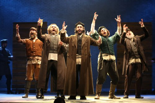 "Michael C. Bernardi in a scene from the 2015 revival of ""Fiddler on the Roof"" (Photo credit: Joan Marcus)"