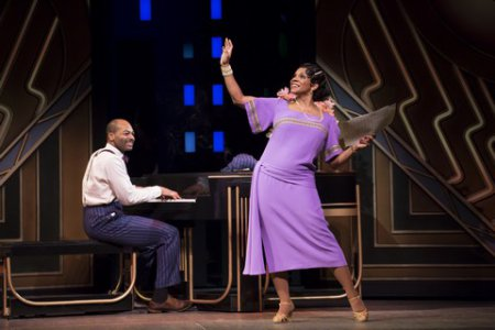 "Brandon Victor Dixon and Audra McDonald in a scene from ""Shuffle Along…"" (Photo credit: Julieta Cervantes)"