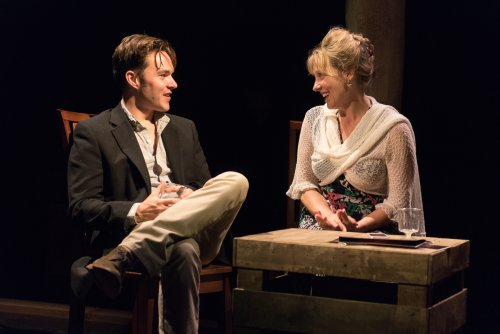 "Drew Ledbetter and Lisa Bostnar in a scene from ""A Persistent Memory"" (Photo credit: Russ Rowland)"