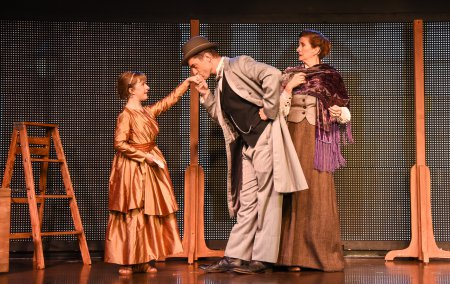 "Abigail Shapiro, Brandon Andrus and Tina Stafford in a scene from ""Liberty:  A Monumental New Musical"" (Photo credit: Russ Rowland)"