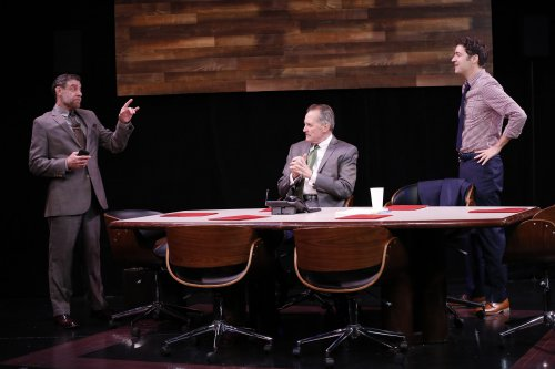 "Lou Liberatore, Stephen Bradbury and Matthew DeCapua in a scene from ""A Class Act"" (Photo credit: Carol Rosegg)"