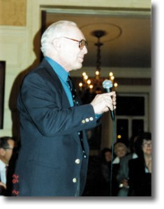 Aaron Frankel lecturing.