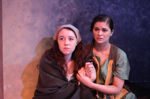 "Rylee Doiron and Lynnsey Lewis in a scene from ""Crashlight"" (Photo credit: Taylor Wobble)"