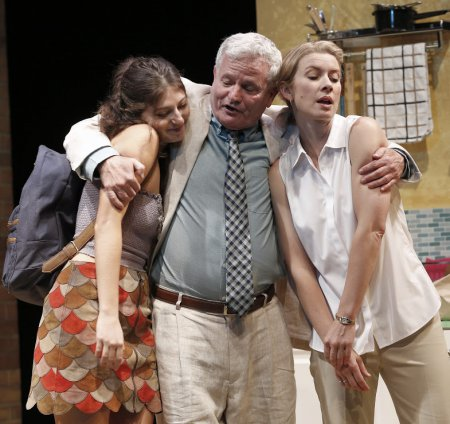 "Michaela Waites, Thomas G. Waites and Rochelle Bostrom in a scene from ""Austin"" (Photo credit: Carol Rosegg)"