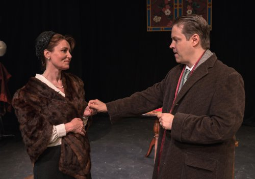 """Alison Murphy and Mark E. Lang in """"LUNT AND FONTANNE: The Celestials of Broadway"""" (Photo credit: Siggi Ragnar Photography)"""