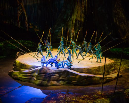 "The Tapani Tribe on Pandora in a scene from Cirque Du Soleil's ""Toruk - The First Flight"" (Photo credit: Errisson Lawrence: costumes: Kym Barrett)"