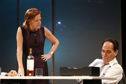 "Lesley McBurney and Vince Bandille in a scene from ""What We're Up Against"" (Photo credit: Jimmy Mendez /mendezphotostudio.com)"