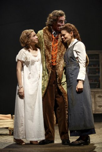 "Tavi Gevinson, John Glover and Celia Keenan-Bolger in a scene from ""The Cherry Orchard"" (Photo credit: Joan Marcus)"