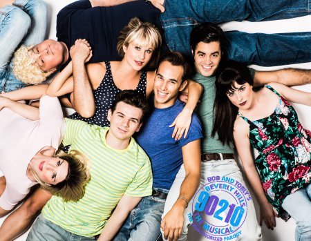 "The cast of ""90201! The Musical"" (Photo credit: Chad Wagner)"