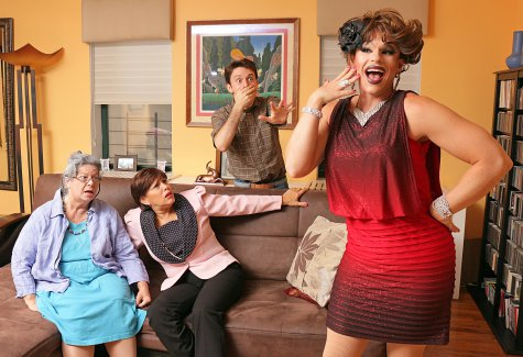 "Deb Armelino, Kate Katcher, Matt Koplik and Shua Potter in a scene from ""Daddy Issues"" (Photo credit: Stephen M. Cyr)"