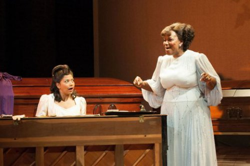 "Rebecca Naomi Jones and Kecia Lewis in a scene from ""Marie and Rosetta"" (Photo credit: Ahron R. Foster)"