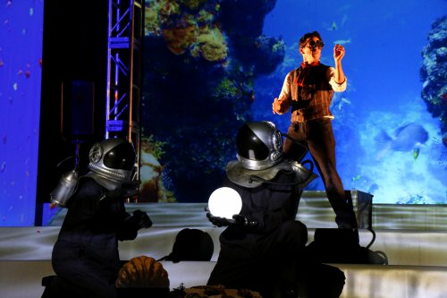 "Suzy Jane Hunt, Richard Clarkin and Rick Miller in a scene from ""Twenty Thousand Leagues under the Sea"" (Photo credit: Craig Francis)"