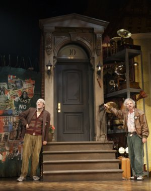 "John Mulaney and Nick Kroll in a scene from ""Oh, Hello on Broadway"" (Photo credit: Joan Marcus)"