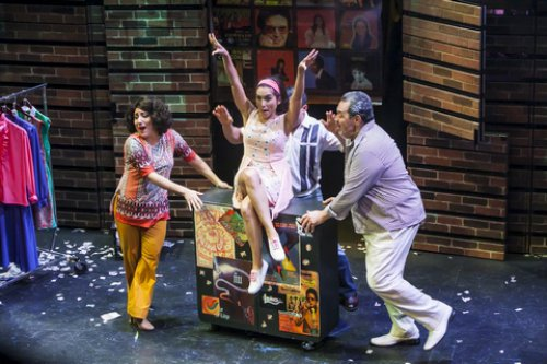 "Shadia Fairuz, Ana Isabelle and Tito Nieves in a scene from ""I Like It Like That"" (Photo credit: Marisol Diaz)"