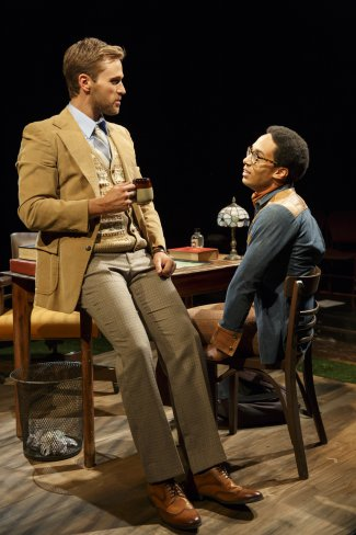 "Dan Amboyer and Rodney Richardson in a scene from ""Squash,"" part of the Flea Theater's production of A.R. Gurney's ""Two Class Acts"" (Photo credit: Joan Marcus)"