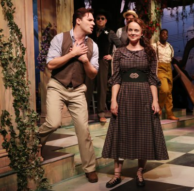 "Ryan Silverman and Melissa Errico in a scene from ""Finian's Rainbow"" (Photo credit: Carol Rosegg)"
