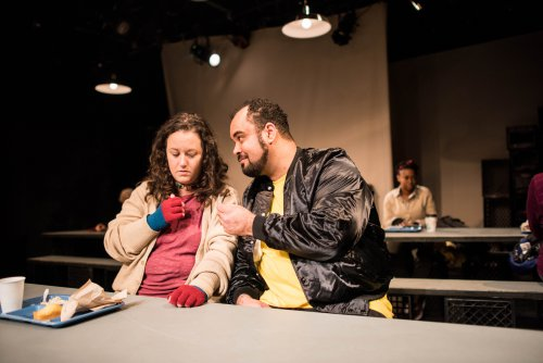 "Shara Ashley Zeiger and Christopher Michael McLamb in a scene from ""Roughly Speaking"" (Photo credit: Den Sweeney Photography)"