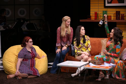 "Allison Guinn, Autumn Hurlbert, Paige Faure and Janet Dacal in ""A Taste of Things to Come"" (Photo credit: Carol Rosegg)"