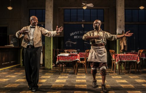 "Leon Addison Brown and Sahr Ngaujah in a scene from ""Master Harold … and the boys"" (Photo credit: Monique Carboni)"