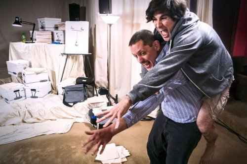 """E. James Ford and Matt Steiner in a scene from """"Private Manning Goes to Washington"""" (Photo credit; Jan Wandrag)"""