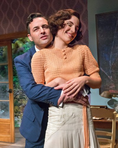 "Max von Essen and Elisabeth Gray in a scene from the Mint Theater's premiere of ""Yours Unfaithfully"" (Photo credit: Richard Termine)"