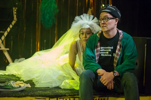 "Angel Desai and Matt Park in a scene from ""PEER GYNT & the Norwegian Hapa Band (Photo credit: Hunter Canning)"