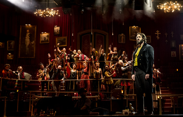 "Josh Groban and the cast of ""Natasha, Pierre & The Great Comet of 1812"" (Photo credit: Chad Batka)"