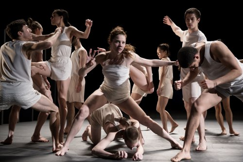 "Batsheva Dance Company in a scene from Ohad Naharin's ""Last Work"" (Photo credit: Julieta Cervantes)"