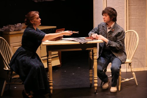 "Tracy Sallows and Bryan Burton in ""The Dressmaker's Secret"" (Photo credit: Carol Rosegg)"