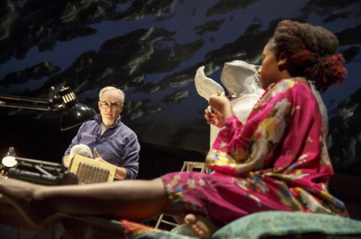 "Reed Birney and Nana Mensah in a scene from ""Man from Nebraska"" (Photo credit: Joan Marcus)"