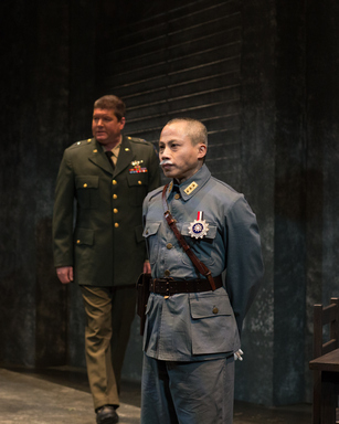 "Jonathan Miles and Dinh James Doan in a scene from ""Incident at the Hidden Temple"" (Photo credit: John Quincy)"