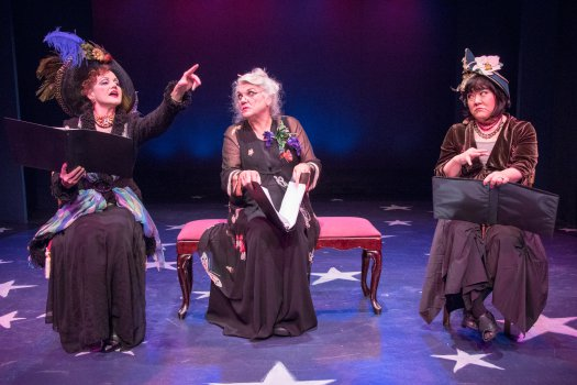 """Alison Fraser, Tyne Daly and Ann Harada in a scene from Jerry Herman's """"Dear World"""" (Photo credit: Ben Strothmann)"""